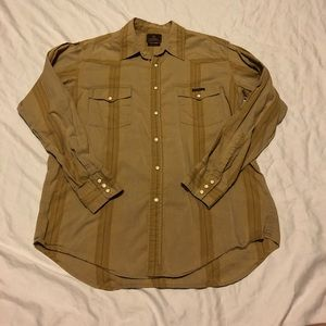 Lucky Brand Pearl Snap Shirt men's Large